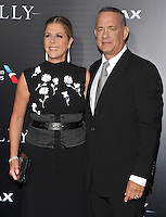 New York,NY-September 6: Rita Wilson, Tom Hanks attends the 'Sully' New York Premiere at Alice Tully Hall on September 6, 2016 in New York City. @John Palmer / Media Punch