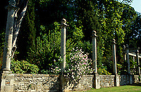 The classical colonnade in The Peto Garden at Iford Manor