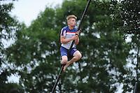 FIERLJEPPEN: IT HEIDENSKIP: 29-06-2016, 1e klasse wedstrijd fierleppen, afgelast wegens regen, Age Hulder, ©foto Martin de Jong