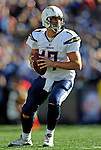 19 October 2008:  San Diego Chargers' quarterback Philip Rivers in action against the Buffalo Bills at Ralph Wilson Stadium in Orchard Park, NY. The Bills defeated the Chargers 23-14 and maintain their first place position in the AFC East with a 5 and 1 record...Mandatory Photo Credit: Ed Wolfstein Photo