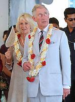 Prince Charles & Camilla visit the Jewish Synagogue in Cochin - India