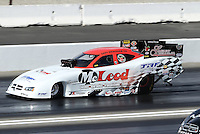 Feb. 16, 2013; Pomona, CA, USA; NHRA funny car driver Gary Densham during qualifying for the Winternationals at Auto Club Raceway at Pomona.. Mandatory Credit: Mark J. Rebilas-