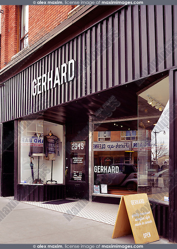 Gerhard Supply clothing store at the Junction neighbourhood in Toronto, Canada