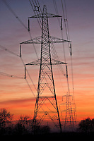 Electricity pylons near Burbage, Leicestershire, United Kingdom