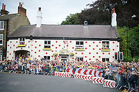 Yorkshire TDF madness: the Polka Dot House in Harrogate<br /> <br /> 2014 Tour de France<br /> stage 2: York-Sheffield (201km)