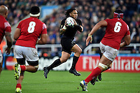 Ma'a Nonu of New Zealand in possession. Rugby World Cup Pool C match between New Zealand and Tonga on October 9, 2015 at St James' Park in Newcastle, England. Photo by: Patrick Khachfe / Onside Images