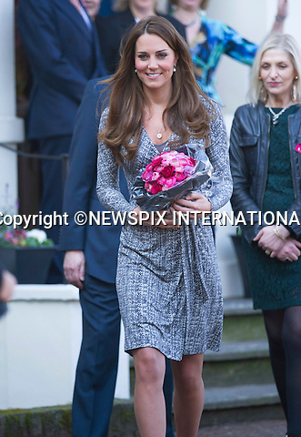 "CATHERINE, DUCHESS OF CAMBRIDGE .makes her first public appearance of the New Year when she visited Hope House, Clapham, London_19/02/2013.Mandatory credit photo:©Dias/NEWSPIX INTERNATIONAL..(Failure to credit will incur a surcharge of 100% of reproduction fees)..**ALL FEES PAYABLE TO: ""NEWSPIX  INTERNATIONAL""**..Newspix International, 31 Chinnery Hill, Bishop's Stortford, ENGLAND CM23 3PS.Tel:+441279 324672.Fax: +441279656877.Mobile:  07775681153.e-mail: info@newspixinternational.co.uk"