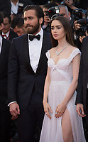 Lily Collins &amp; Jake Gyllenhaal at the premiere for &quot;Okja&quot; at the 70th Festival de Cannes, Cannes, France. 19 May  2017<br /> Picture: Paul Smith/Featureflash/SilverHub 0208 004 5359 sales@silverhubmedia.com