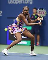 FLUSHING NY- SEPTEMBER 01: Venus Williams Vs Julia Goerges on Arthur Ashe Stadium at the USTA Billie Jean King National Tennis Center on September 1, 2016 in Flushing Queens. Credit: mpi04/MediaPunch