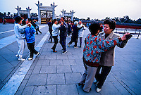 Early morning ballroom dancing, Tiantan Park, Beijing, China
