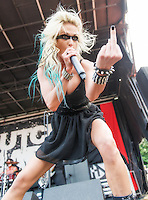 Butcher Babies at Mayhem Fest 2013 in Atlanta, GA.