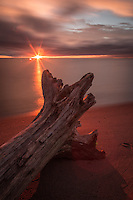 &quot;Touched by the Light&quot;<br /> <br /> Washed ashore, then kissed by the light. The character in this piece of Lake Superior driftwood came alive at daybreak.