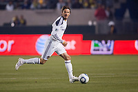 LA Galaxy midfielder David Beckham (23) moves with the ball. The LA Galaxy defeated the Portland Timbers 3-0 at Home Depot Center stadium in Carson, California on  April  23, 2011....