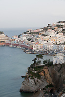 Port of Ponza, on the island of Ponza, Italy