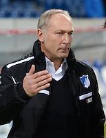 FUSSBALL  1. BUNDESLIGA  SAISON 2012/2013  14. SPIELTAG     TSG 1899 Hoffenheim - VfL Wolfsburg       18.11.2012 Manager Andreas Mueller (TSG 1899 Hoffendem)