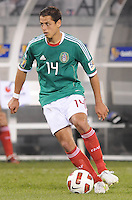 Mexico Javier Hernadez (14)      Mexico defeated Guatemala 2-1 in the quaterfinals for the 2011 CONCACAF Gold Cup , at the New Meadowlands Stadium, Saturday June 18, 2011.
