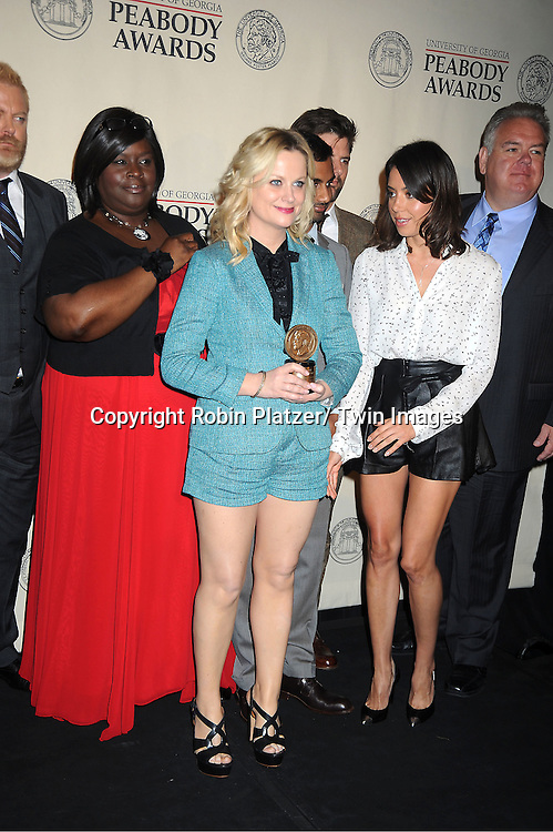 Amy Poehler and cast of &quot;Parks and Recreation&quot; attends the 71st Annual Peabody Awards at the Waldorf Astoria Hotel in New York City on May 21, 2012.