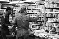 24 Mar 1970 --- Due to an eight-day postal workers' strike in 30 major U.S. cities, President Nixon called in the U.S. Army to sort and deliver the mail. --- Image by © JP Laffont/Sygma/CORBIS
