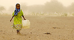 A girl displaced by violence in Darfur.
