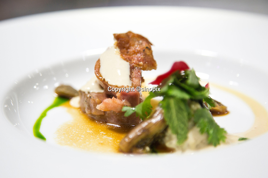 Beggar's Veal Shank served at the Ultraviolet restaurant in Shanghai, China on 27th Sept 2013.  The restaurant in run by Chef Paul Pairet. <br /> <br /> Photo by Qilai Shen / Sinopix