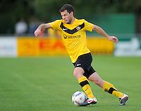 Fussball, 2. Bundesliga, Saison 2011/12, Testspiel SG Dynamo Dresden - Slovan Liberec, Pirna. Dresdens Giannis Papadopoulos am Ball.