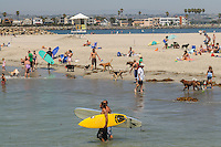 Dog Beach, Ocean Beach, west end of Voltaire St., San Diego, California