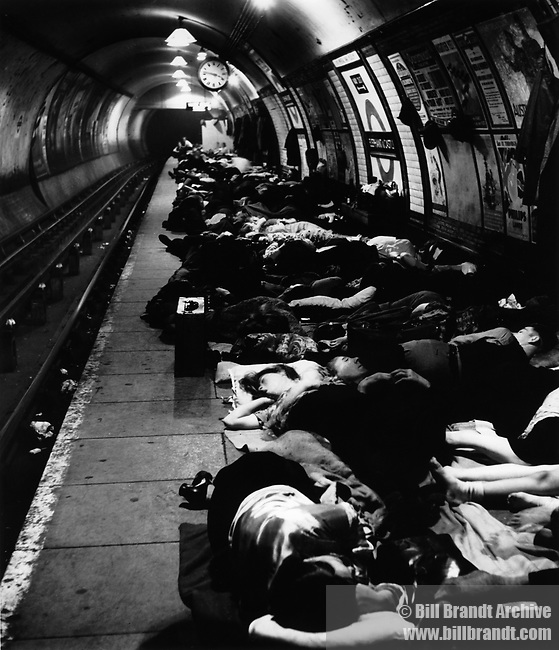 Shelter in the Underground, Elephant and Castle 1940