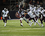 Ole Miss wide receiver Collins Moore (16) is tackled by \am4d\ and Texas A&M defensive back Howard Matthews (31) at Vaught-Hemingway Stadium in Oxford, Miss. on Saturday, October 6, 2012. Texas A&M rallied from a 27-17 4th quarter deficit to win 30-27.