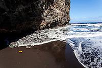 Black sand beach, Waipi'o Valley, Big Island.