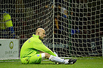 Motherwell v St Johnstone...10.11.10  .Down and out Peter Enckelman after conceding the fourth goal on his return to first team action.Picture by Graeme Hart..Copyright Perthshire Picture Agency.Tel: 01738 623350  Mobile: 07990 594431