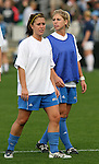 1 December 2006: UCLA's Zerboni twins, Blake Zerboni (l) and McCall Zerboni (r). The University of North Carolina Tarheels defeated the University of California Los Angeles Bruins 2-0 at SAS Stadium in Cary, North Carolina in an NCAA Division I Women's College Cup semifinal game.