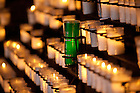 The Alumni Association Green Candle in the Grotto...Photo by Matt Cashore/University of Notre Dame