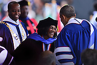 Washington, DC - May 7, 2016: Actress Cicely Tyson greets President Barack Obama after she received an honorary Doctor of Humane Letters degree during the 148th Commencement Convocation at Howard University in the District of Columbia, May 7, 2016.  (Photo by Don Baxter/Media Images International)