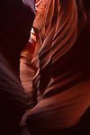 Sandstone swirls and patterns in Secret Canyon near Page, Arizona
