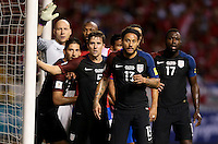 San Jose, Costa Rica - November 15, 2016: The U.S. Men's National team go down 0-4 to Costa Rica during Hexagonal round action in a World Cup Qualifying match at Estadio Nacional de Costa Rica.