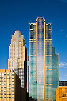 Wells Fargo Center (formerly Norwest), designed by Cesar Pelli (left) and the Dain Rauscher building (right) in downtown Minneapolis.