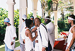 """Lil Wayne Kissing Birdman on the set of the of Birdman's video shoot """"Do That"""" featuring P. Diddy in Deerfield Beach, Florida on May 2, 2002.  Photo credit: Elgin Edmonds / Presswire News"""