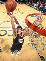 Anthony Gill at the NBPA Top100 camp June 17, 2010 at the John Paul Jones Arena in Charlottesville, VA. Visit www.nbpatop100.blogspot.com for more photos. (Photo © Andrew Shurtleff)