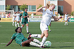 25 April 2009: Katie Larkin (right) of the Los Angeles Sol has the ball tackled away from her by Tina Ellertson (left) of Saint Louis Athletica.  Saint Louis Athletica tied the visiting Los Angeles Sol 0-0  in a regular season Women's Professional Soccer game at Robert R. Hermann Stadium at St. Louis University, St. Louis, Missouri.