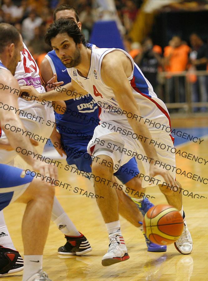 BELGRADE SERBIA - 11/09/2012. Milos Teodosic of Serbia during FIBA Eurobasket 2013  group A qualification basketball game Serbia vs Israel in Pionir arena Belgrade, Serbia (CREDIT: PEDJA MILOSAVLJEVIC/SIPA PRESS)