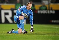 FUSSBALL   1. BUNDESLIGA   SAISON 2011/2012   23. SPIELTAG Borussia Moenchengladbach - Hamburger SV         24.02.2012 Jaroslav Drobny (Hamburger SV) enttaeuscht