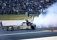 Jun 5, 2015; Englishtown, NJ, USA; NHRA top fuel driver Larry Dixon during qualifying for the Summernationals at Old Bridge Township Raceway Park. Mandatory Credit: Mark J. Rebilas-