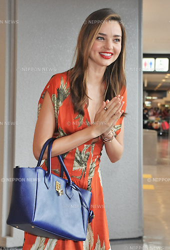 Miranda Kerr, Jul 18, 2013 : Tokyo, Japan : Model Miranda Kerr arrives at Narita International Airport in Chiba prefecture, Japan on July 18, 2013.
