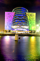 9/9/10 A lighting instalation which is taking place at the new Dublin Convention Centre photo taken last night..Picture: Collins Photos