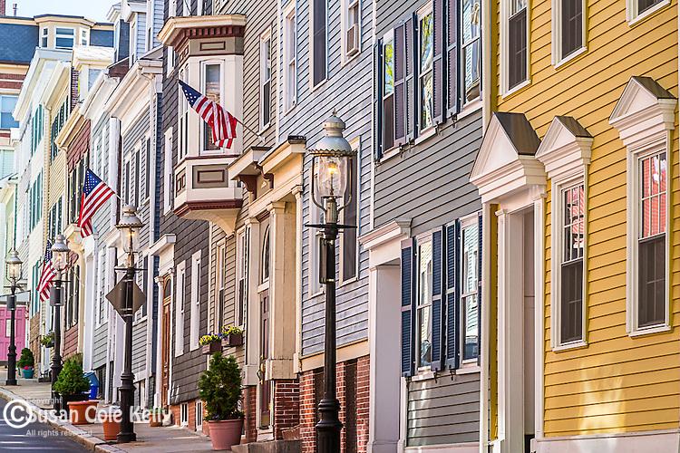 Historic homes in the Charlestown neighborhood, Boston, Massachusetts, USA