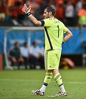 FUSSBALL WM 2014  VORRUNDE    Gruppe B     Spanien - Niederlande                13.06.2014 Torwart Iker Casillas (Spanien)
