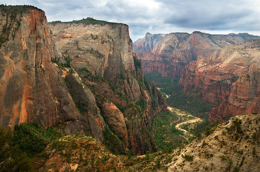 The dramatic view from Observation Point looks down into Zion Canyon, in the heart of the park. The 4 mile (one way) hike is very scenic, but the view from the point is top notch!