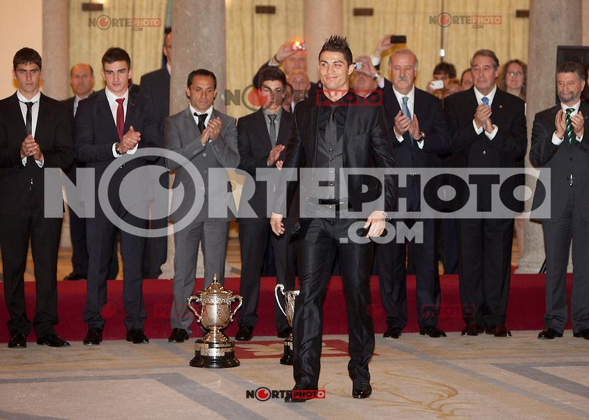 Cristiano Ronaldo attend the National Sports Awards ceremony at El Pardo Palace. December 05, 2012. (ALTERPHOTOS/Caro Marin) NortePhoto