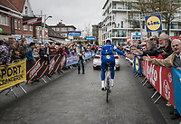 Tom Boonen (BEL/Quick-Step Floors) in his last ever (farewell) race on Belgian soil is greeted warmly by the start crowd (in his home town)<br /> <br /> 105th Scheldeprijs 2017 (1.HC)<br /> 1 Day Race: Mol &rsaquo; Schoten (BEL/202km)