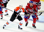 7 December 2009: Philadelphia Flyers' left wing forward James van Riemsdyk in action against the Montreal Canadiens at the Bell Centre in Montreal, Quebec, Canada. The Canadiens defeated the Flyers 3-1. Mandatory Credit: Ed Wolfstein Photo